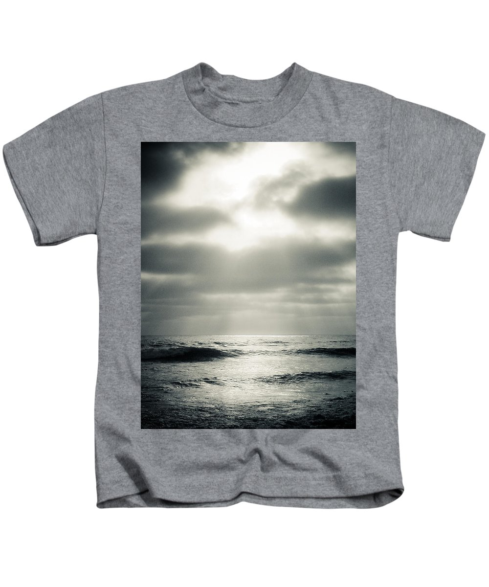 Clouds Kids T-Shirt featuring the photograph Clouds Over The Ocean by Scott Sawyer