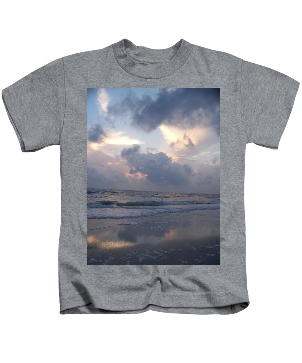 Rain Kids T-Shirt featuring the photograph Cloudy Day In Naples by Laurie Paci