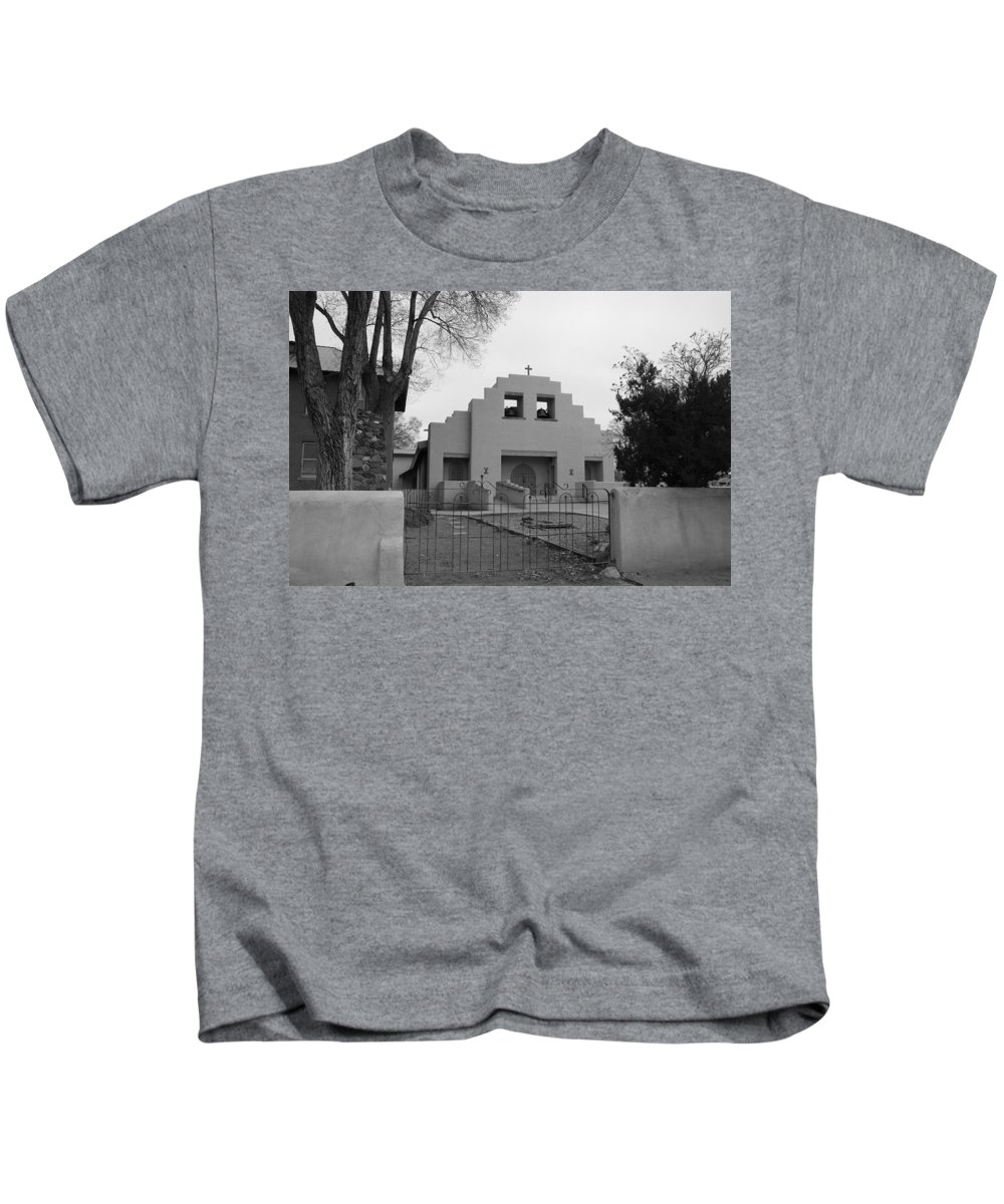 Architecture Kids T-Shirt featuring the photograph Cochiti Church by Rob Hans