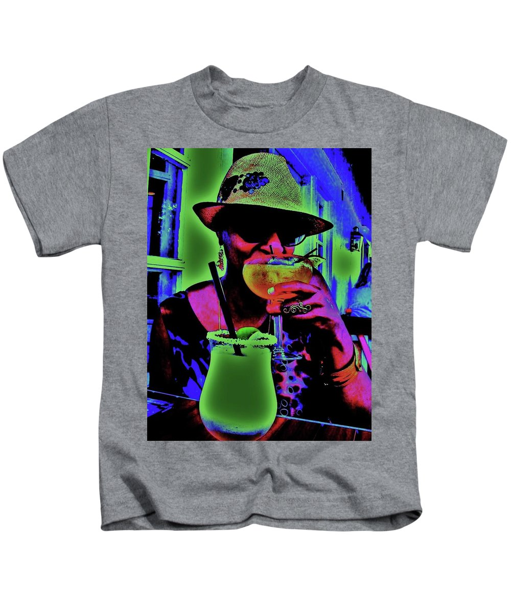 Cocktails Kids T-Shirt featuring the photograph Cocktails Anyone by Diana Dearen