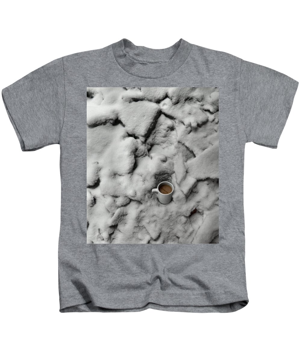 Coffee Kids T-Shirt featuring the photograph Coffee On The Rocks by T Cook
