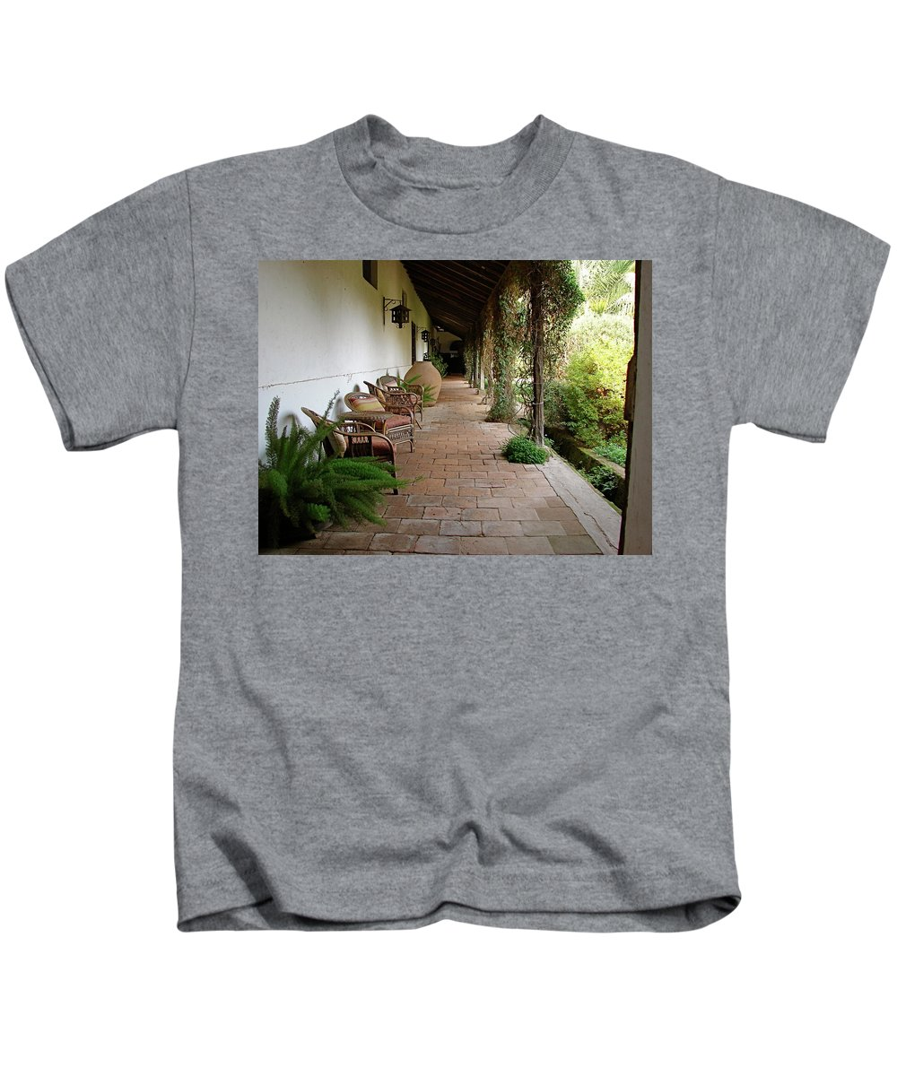 Colchagua Kids T-Shirt featuring the photograph Colchagua Valley Porch by Brett Winn