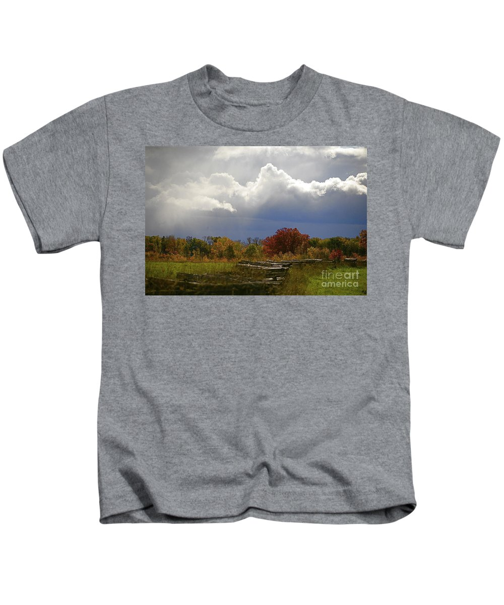Landscape Kids T-Shirt featuring the photograph Cold Front by Robert Pearson