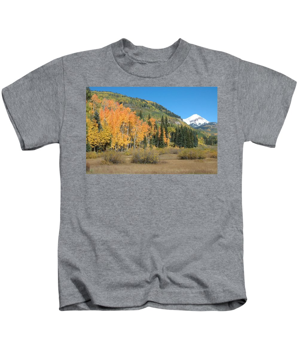 Aspen Kids T-Shirt featuring the photograph Colorado Gold by Jerry McElroy
