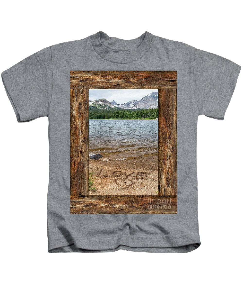Windows Kids T-Shirt featuring the photograph Colorado Love Window by James BO Insogna