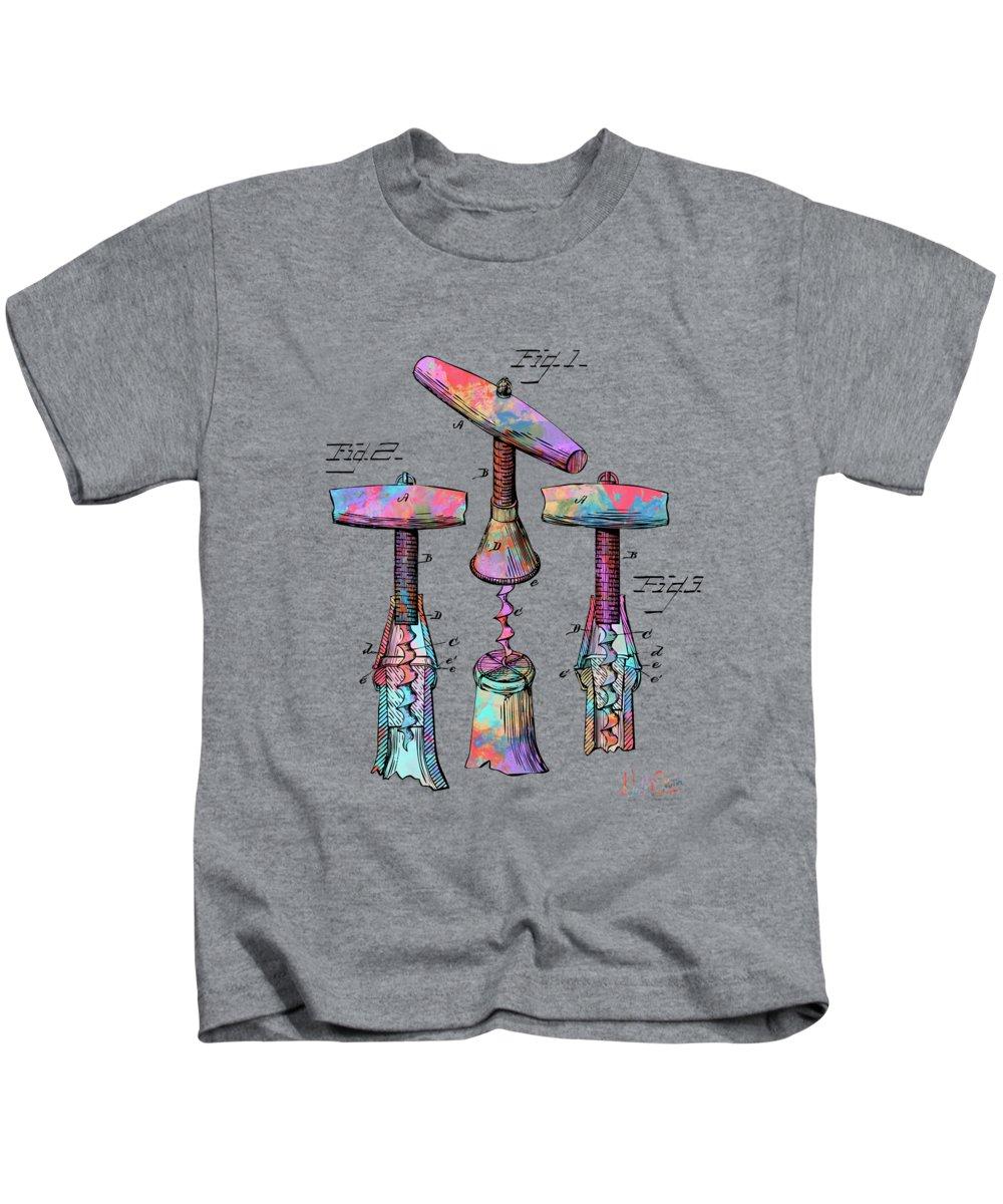 Wet Digital Art Kids T-Shirts