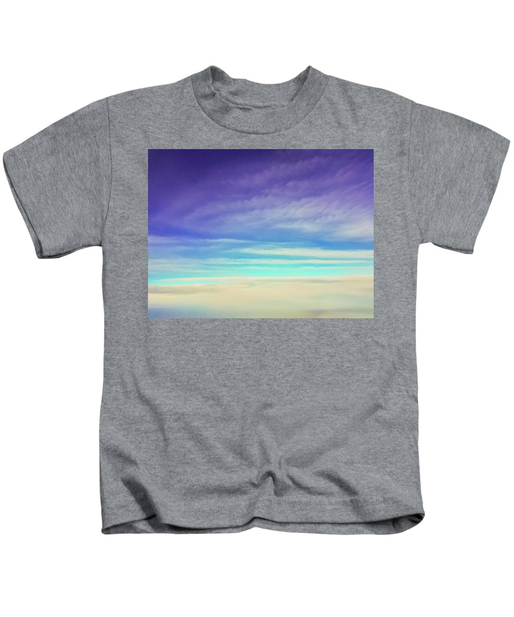 Purple Kids T-Shirt featuring the photograph Colorful Clouds by Jonny D