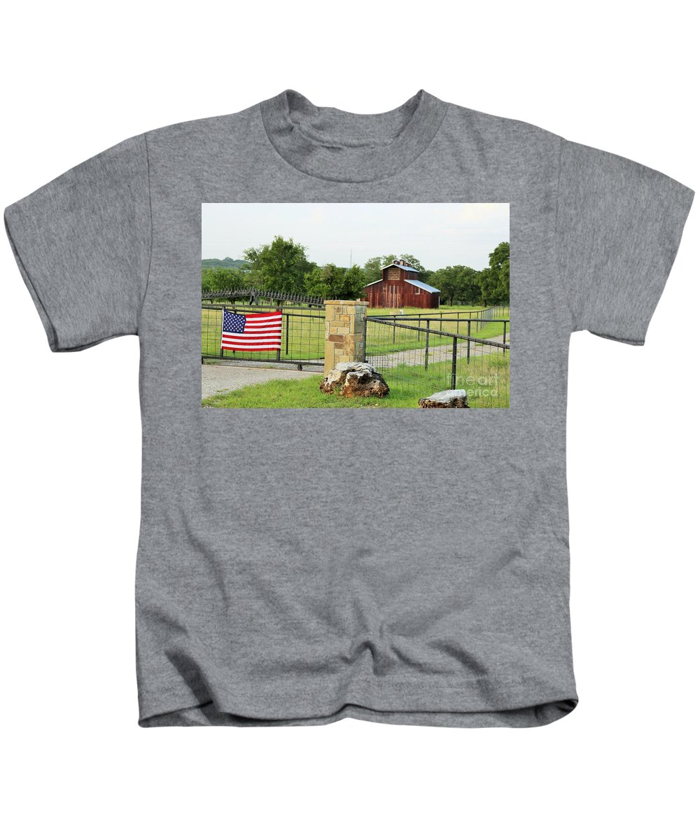 Kids T-Shirt featuring the photograph Colors Dont Run by Jeff Downs
