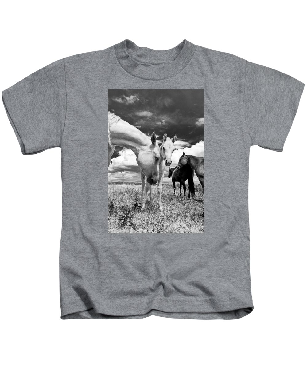 Joseph Kids T-Shirt featuring the photograph Colt 006 by Charles Frates