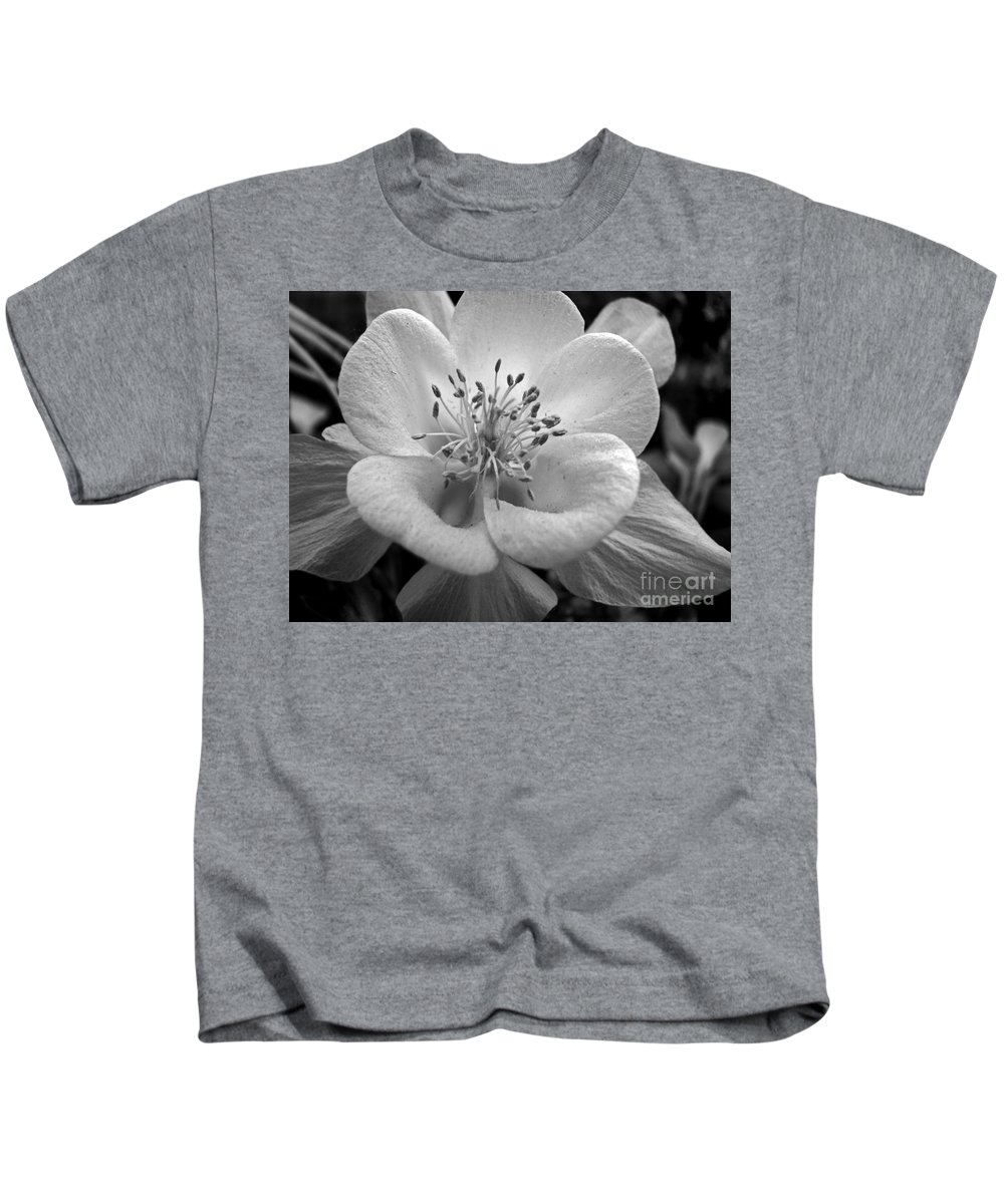 Flowers Kids T-Shirt featuring the photograph Columbine by Amanda Barcon
