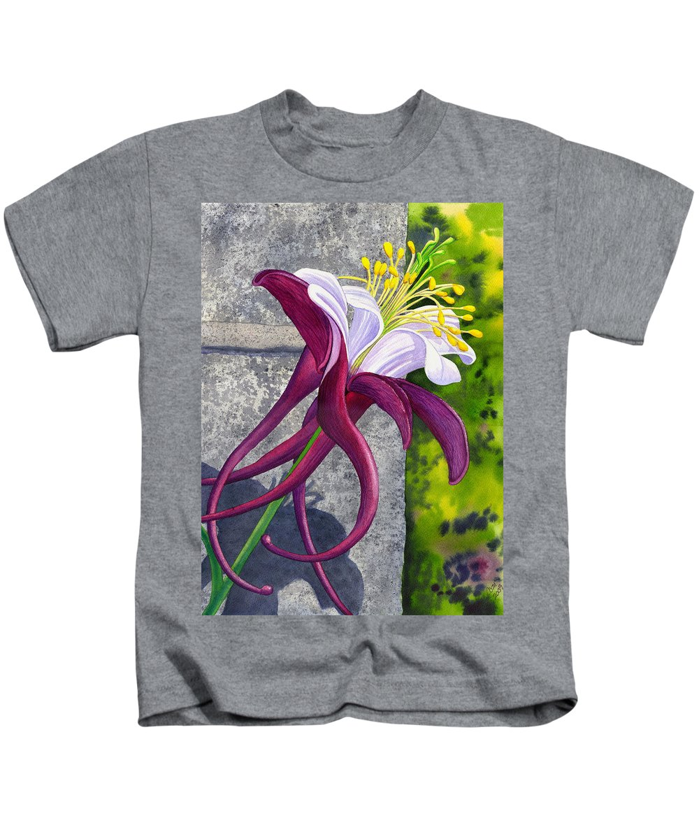 Columbine Kids T-Shirt featuring the painting Columbine by Catherine G McElroy