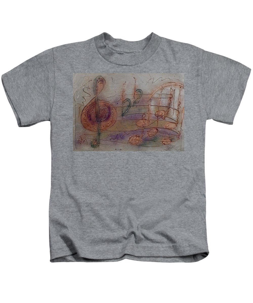Impressionist Kids T-Shirt featuring the painting Composition In B Flat by Anita Burgermeister