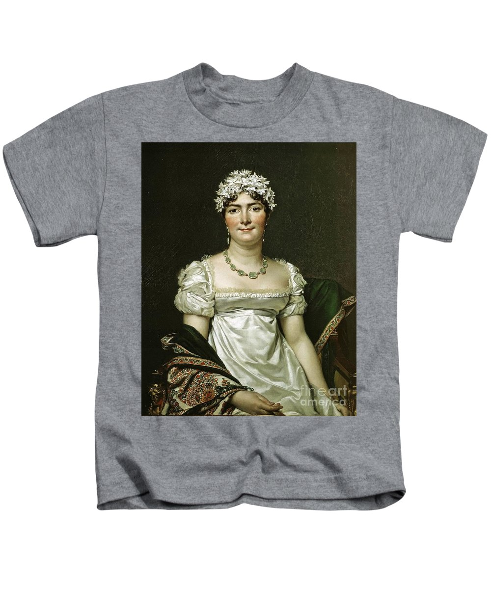 Jacques-louis David - Comtesse Daru 1810 Kids T-Shirt featuring the painting Comtesse Daru by MotionAge Designs