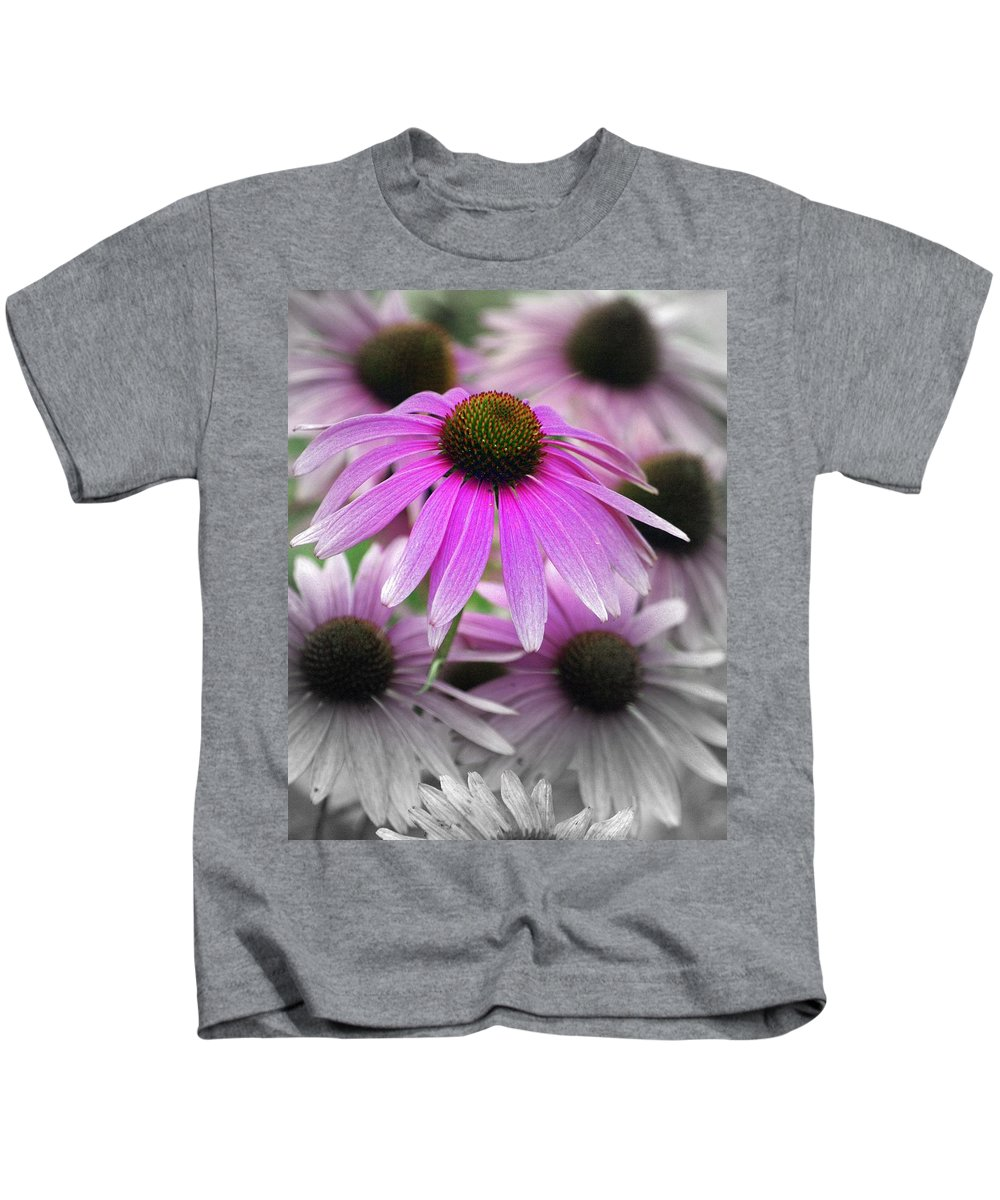 Flowers Kids T-Shirt featuring the photograph Coneflowers by Marty Koch
