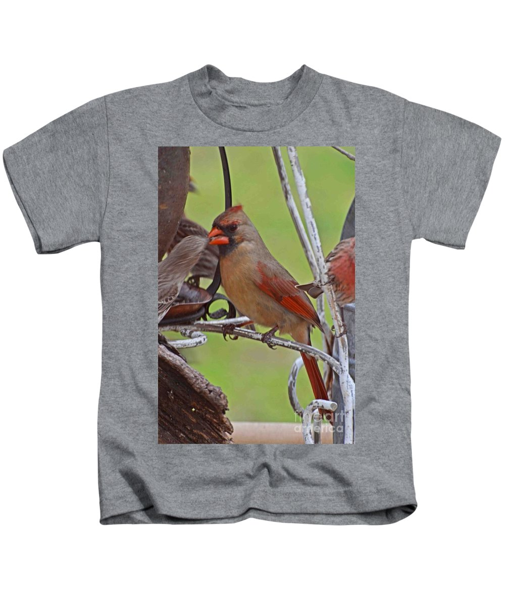 Nature Kids T-Shirt featuring the photograph Confrontation by Debbie Portwood