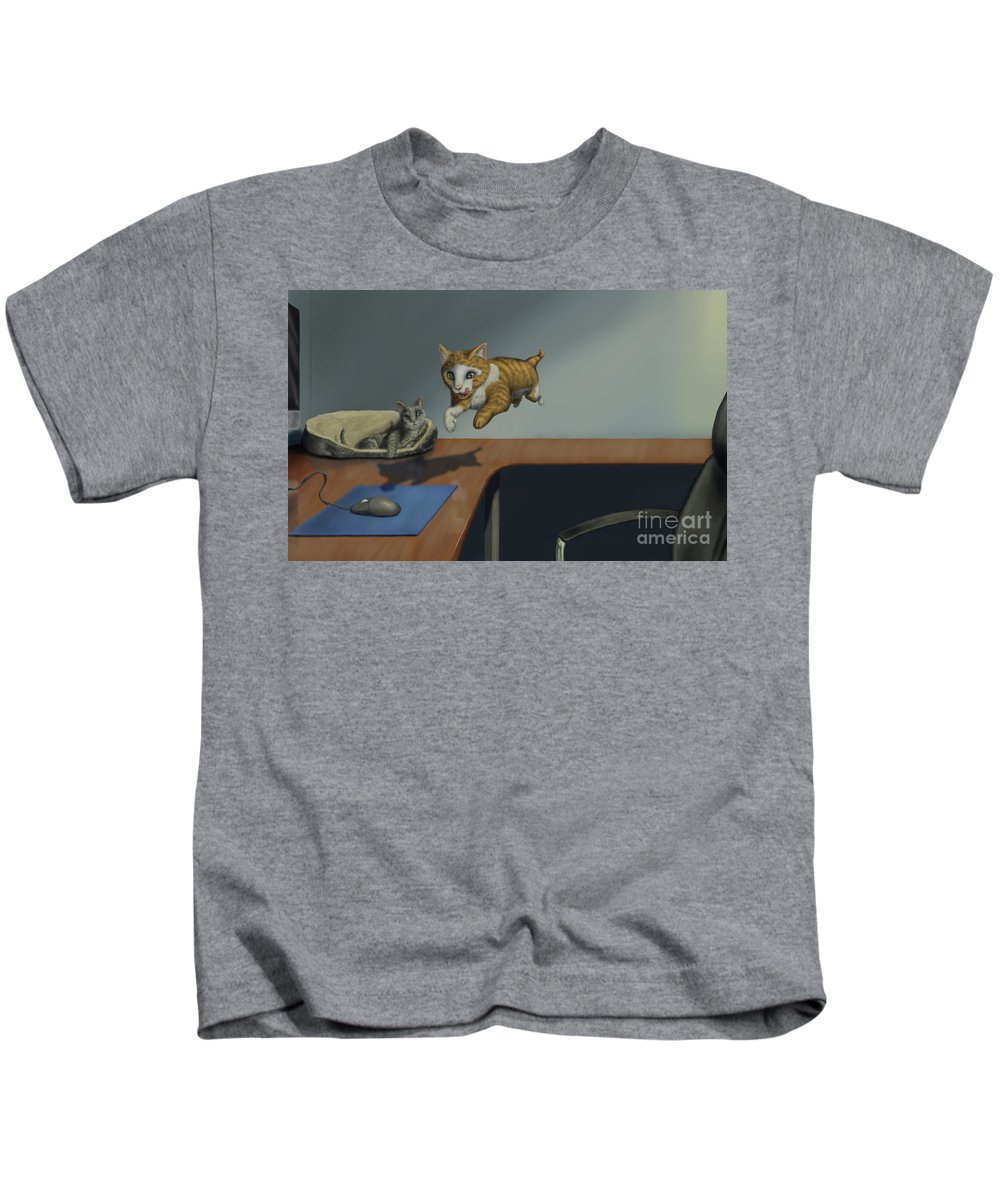 Cat Kids T-Shirt featuring the digital art Confused by Preston Howell