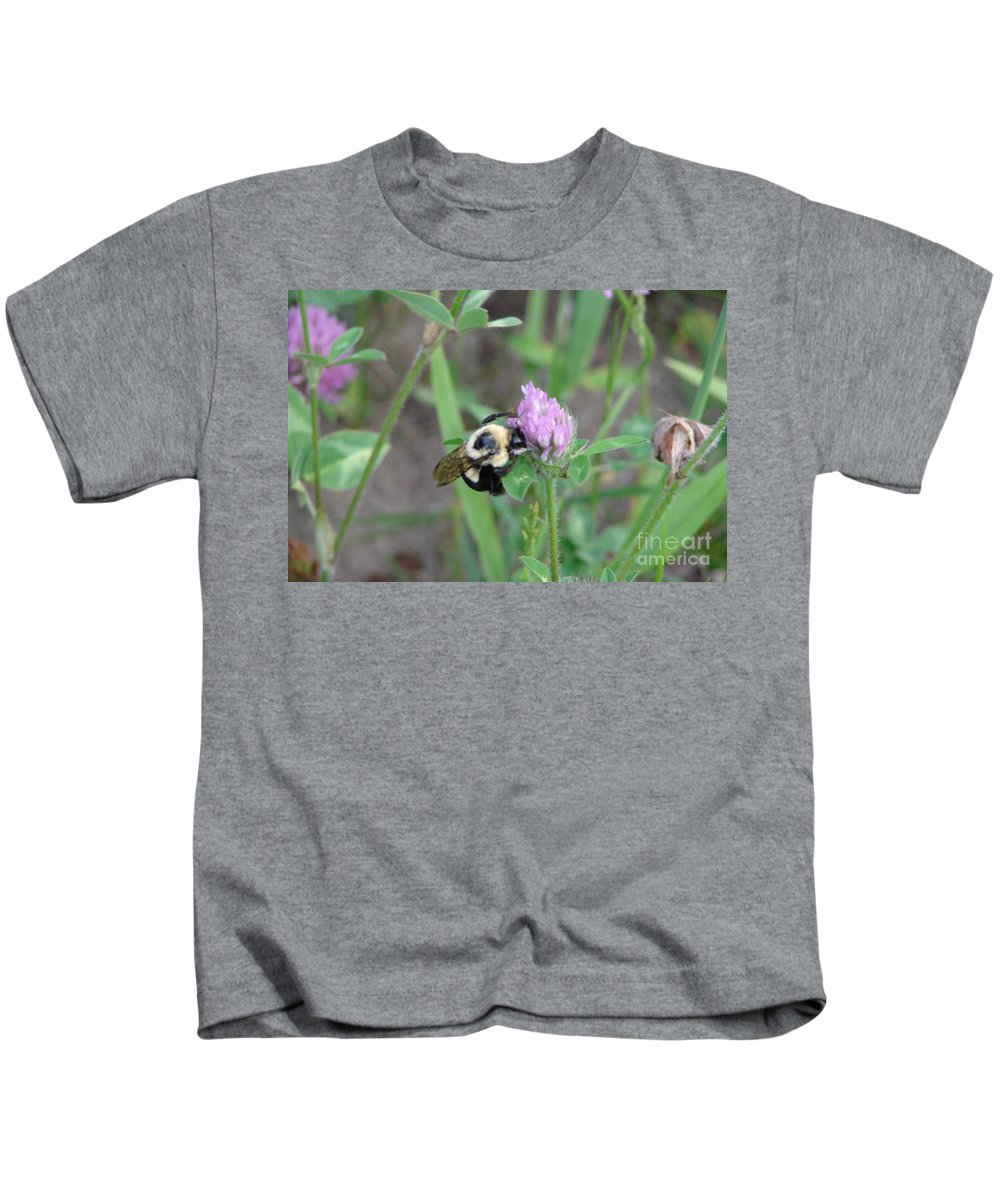 Bee Kids T-Shirt featuring the photograph Connected by Priscilla Richardson