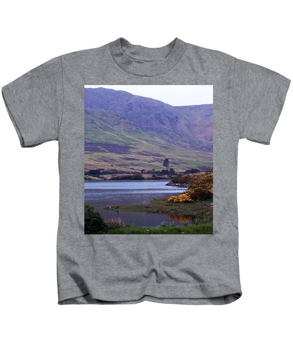 Landscape Kids T-Shirt featuring the photograph Connemara Leenane Ireland by Teresa Mucha