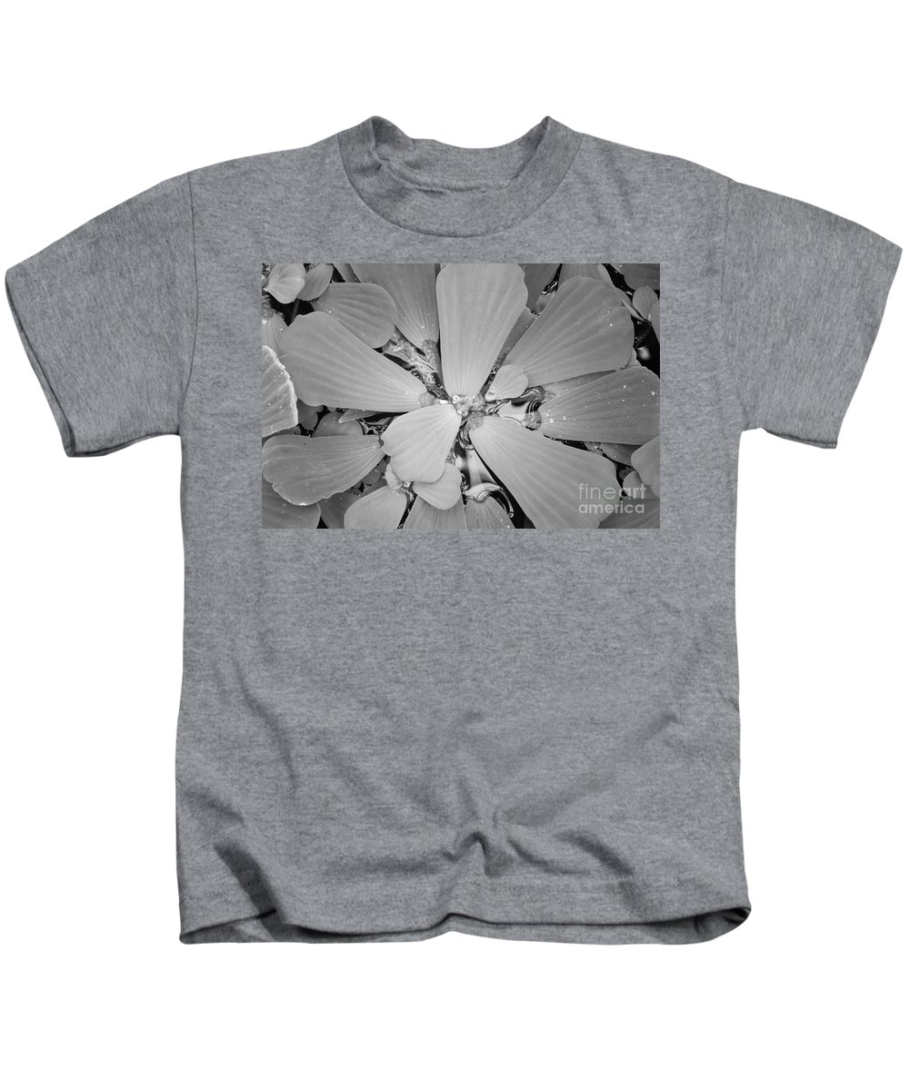 Nature Kids T-Shirt featuring the photograph Conservatory Nature In Black And White 1 by Carol Groenen