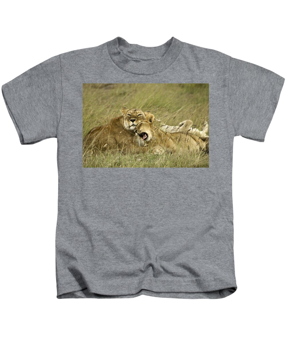 Africa Kids T-Shirt featuring the photograph Contentment by Michele Burgess