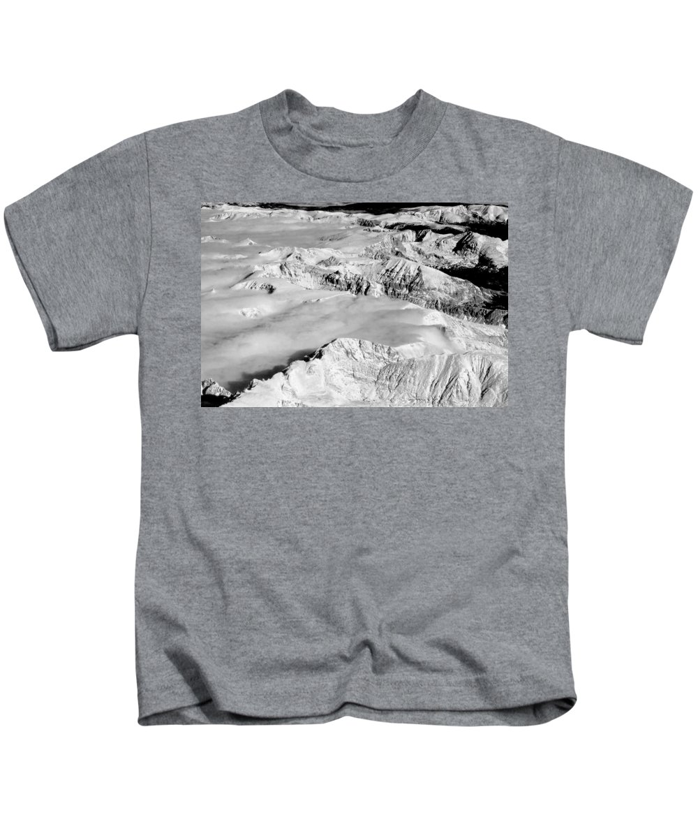 Continental Divide Kids T-Shirt featuring the photograph Continental Divide Clouds Rocky Mountains by James BO Insogna
