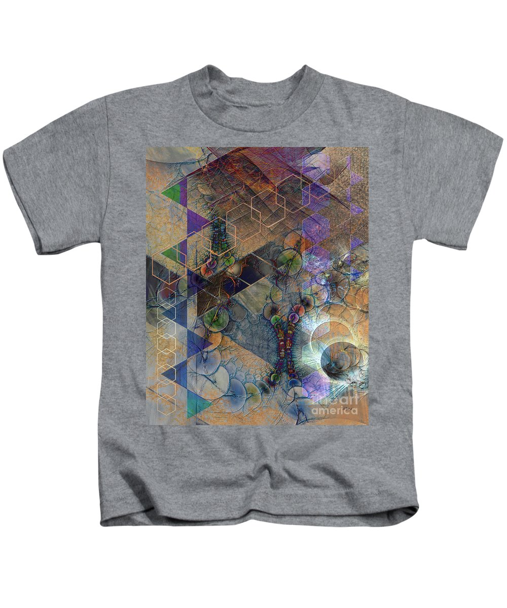 Controlled Chaos Kids T-Shirt featuring the digital art Controlled Chaos by John Beck