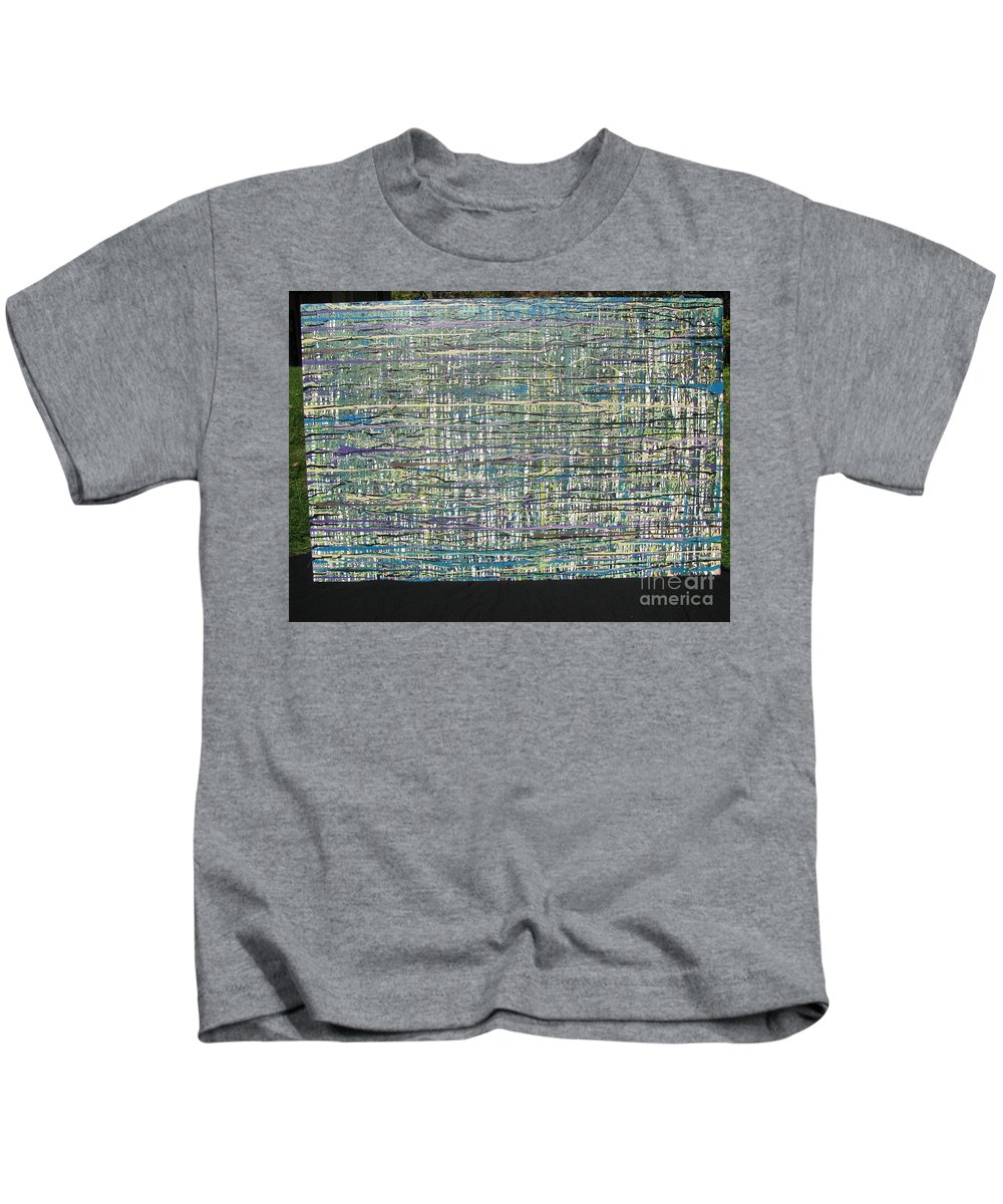 Kids T-Shirt featuring the painting Convoluted by Jacqueline Athmann
