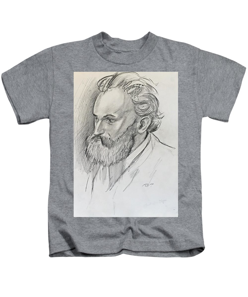 Kids T-Shirt featuring the drawing Copy Of Degas by Alejandro Lopez-Tasso