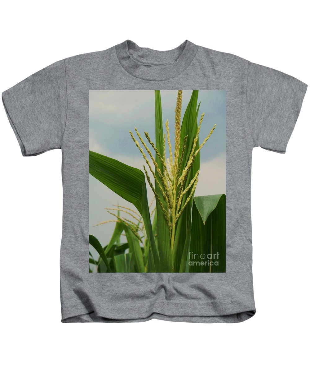 Corn Stalk Kids T-Shirt featuring the photograph Corn Stalk by Eric Schiabor