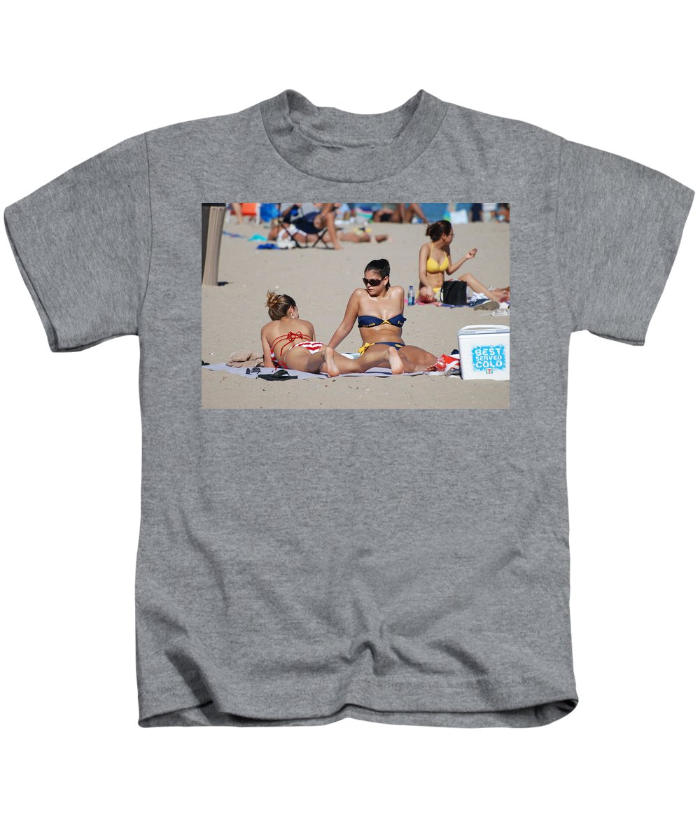 Girls Kids T-Shirt featuring the photograph Corona Strips by Rob Hans