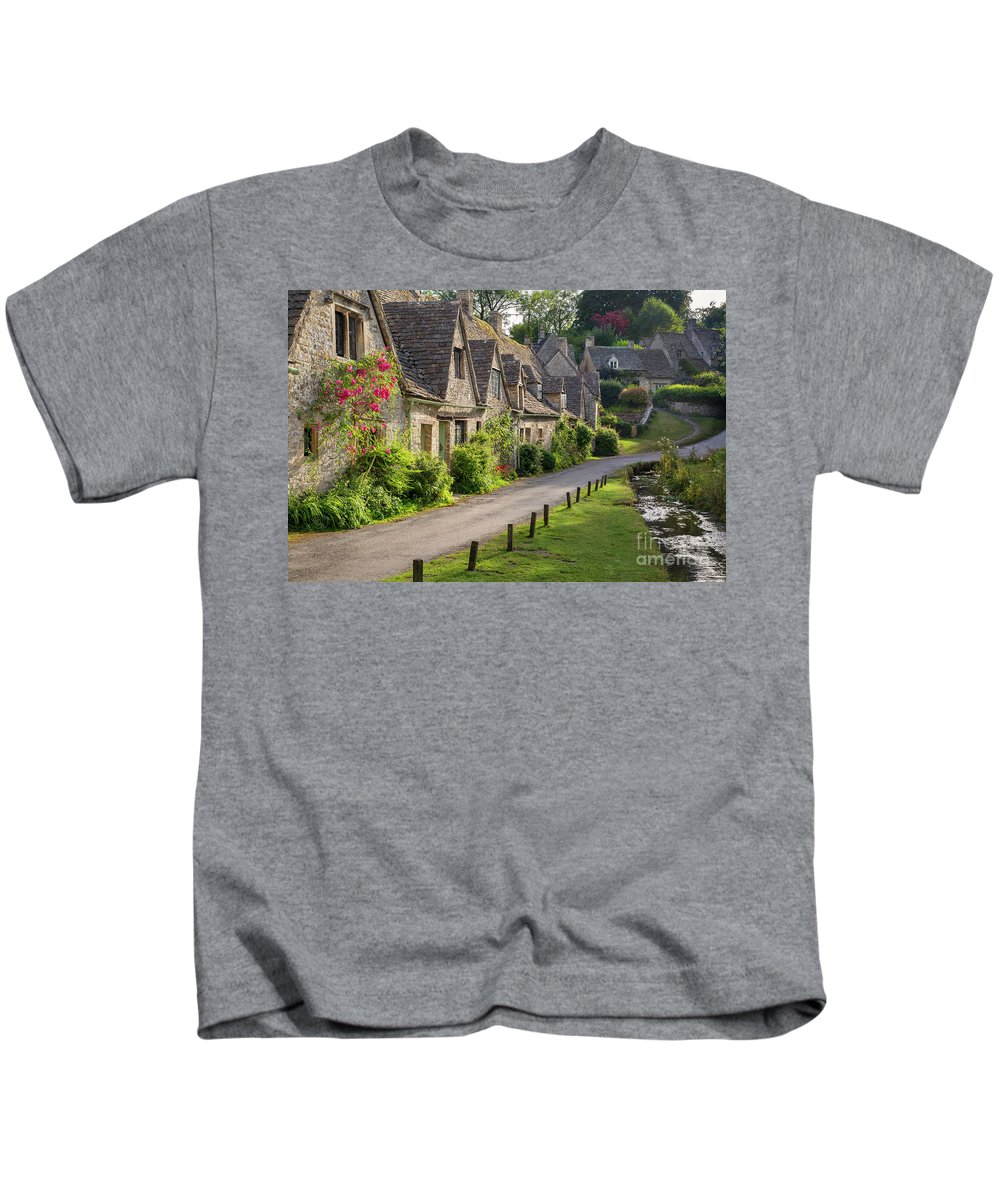 Arlington Row Kids T-Shirt featuring the photograph Cotswolds Homes by Brian Jannsen
