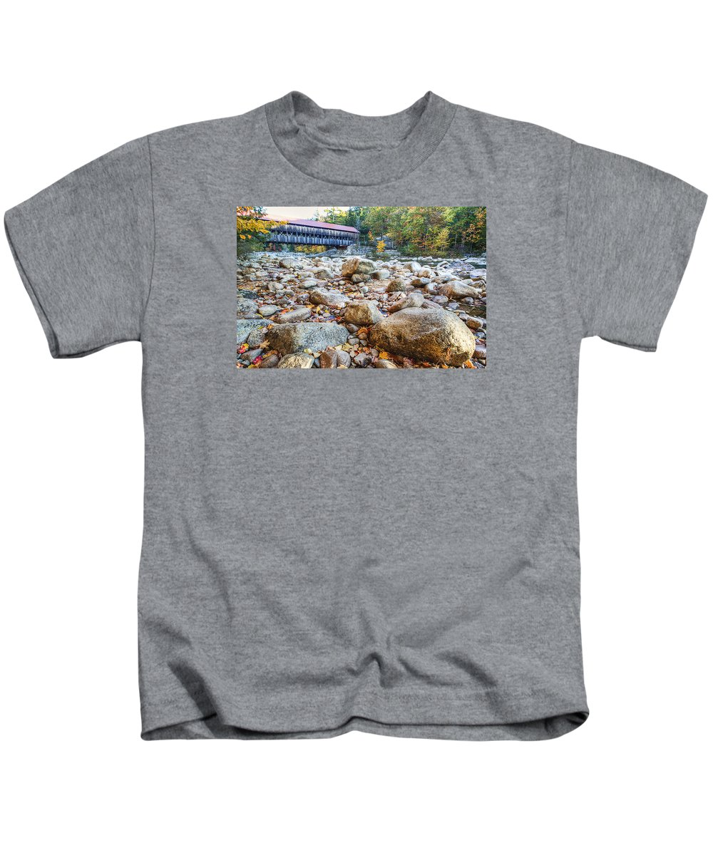 Covered Bridge Kids T-Shirt featuring the photograph Covered Bridge by David Pratt
