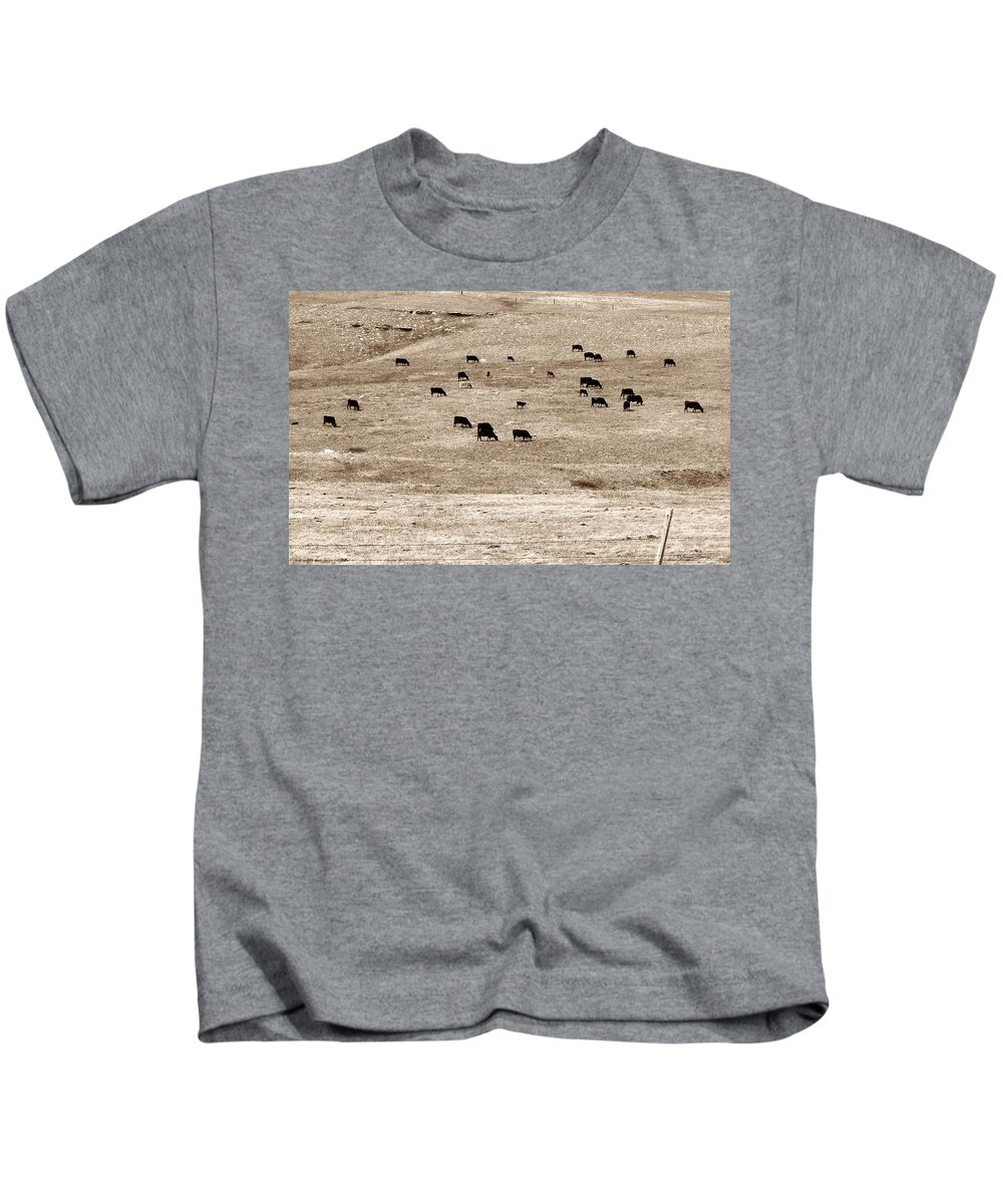 Cows Kids T-Shirt featuring the photograph Cow Droppings by Susan Kinney
