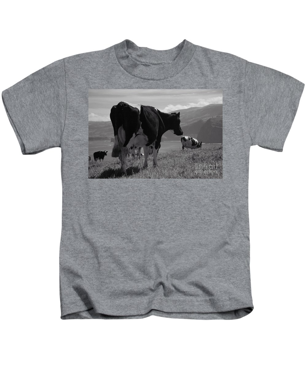 Azoren Kids T-Shirt featuring the photograph Cows by Gaspar Avila