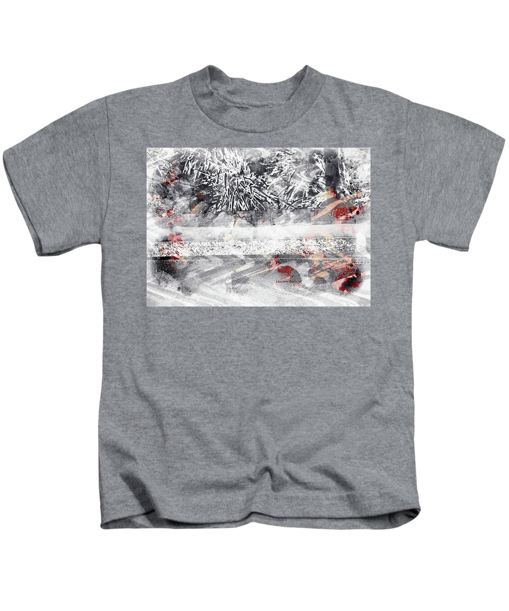 Abstract Kids T-Shirt featuring the photograph Cranberries In Winter by Lenore Senior