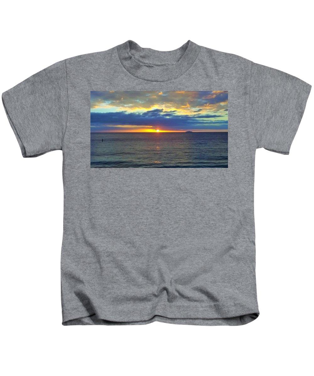 Beach Kids T-Shirt featuring the digital art Crash Boat Beach by Sheryl Chapman Photography