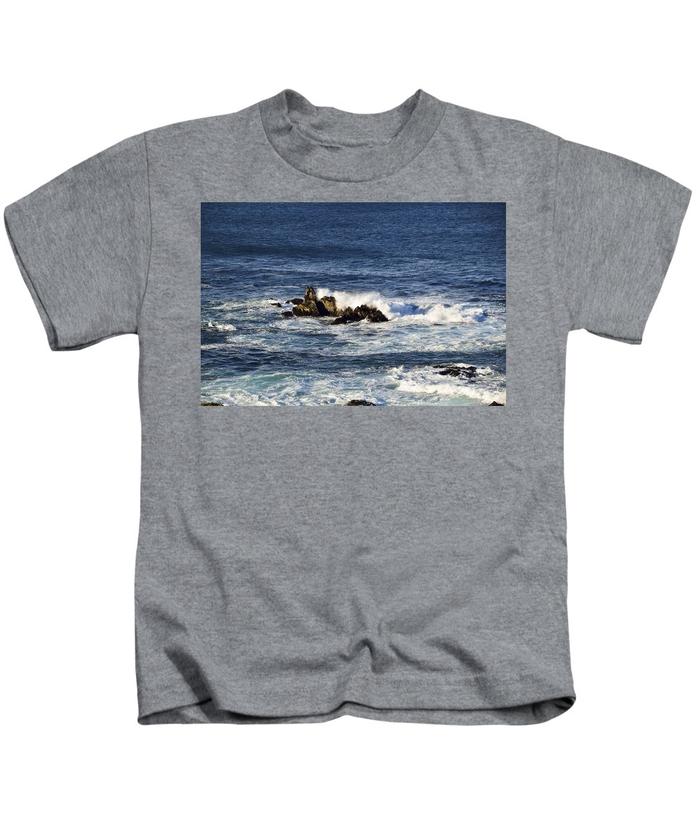 Ocean Kids T-Shirt featuring the photograph Crash by Kellie Prowse