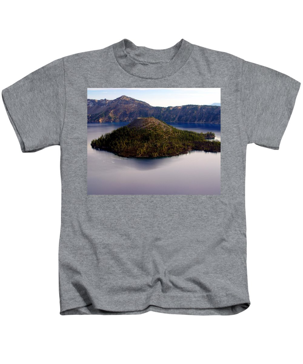 Crater Lake Kids T-Shirt featuring the photograph Crater Lake 1 by Marty Koch