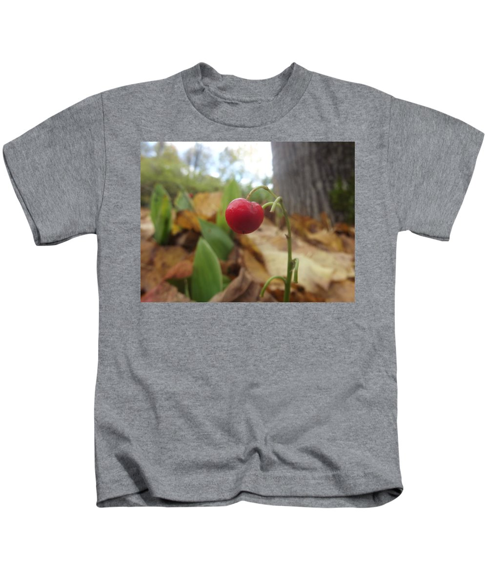 Red Kids T-Shirt featuring the photograph Crimson Berry by Claire Lacroix