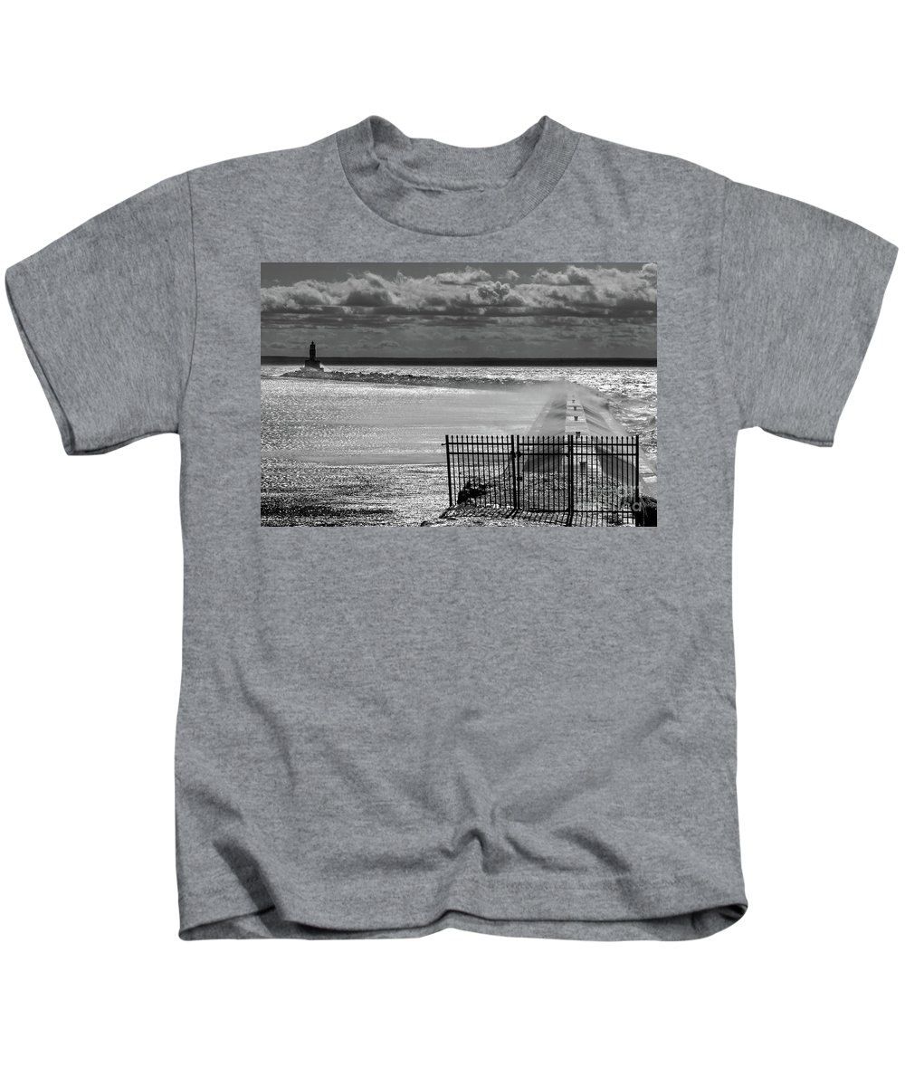 Lighthouse Kids T-Shirt featuring the photograph Crisp by Upper Peninsula Photography