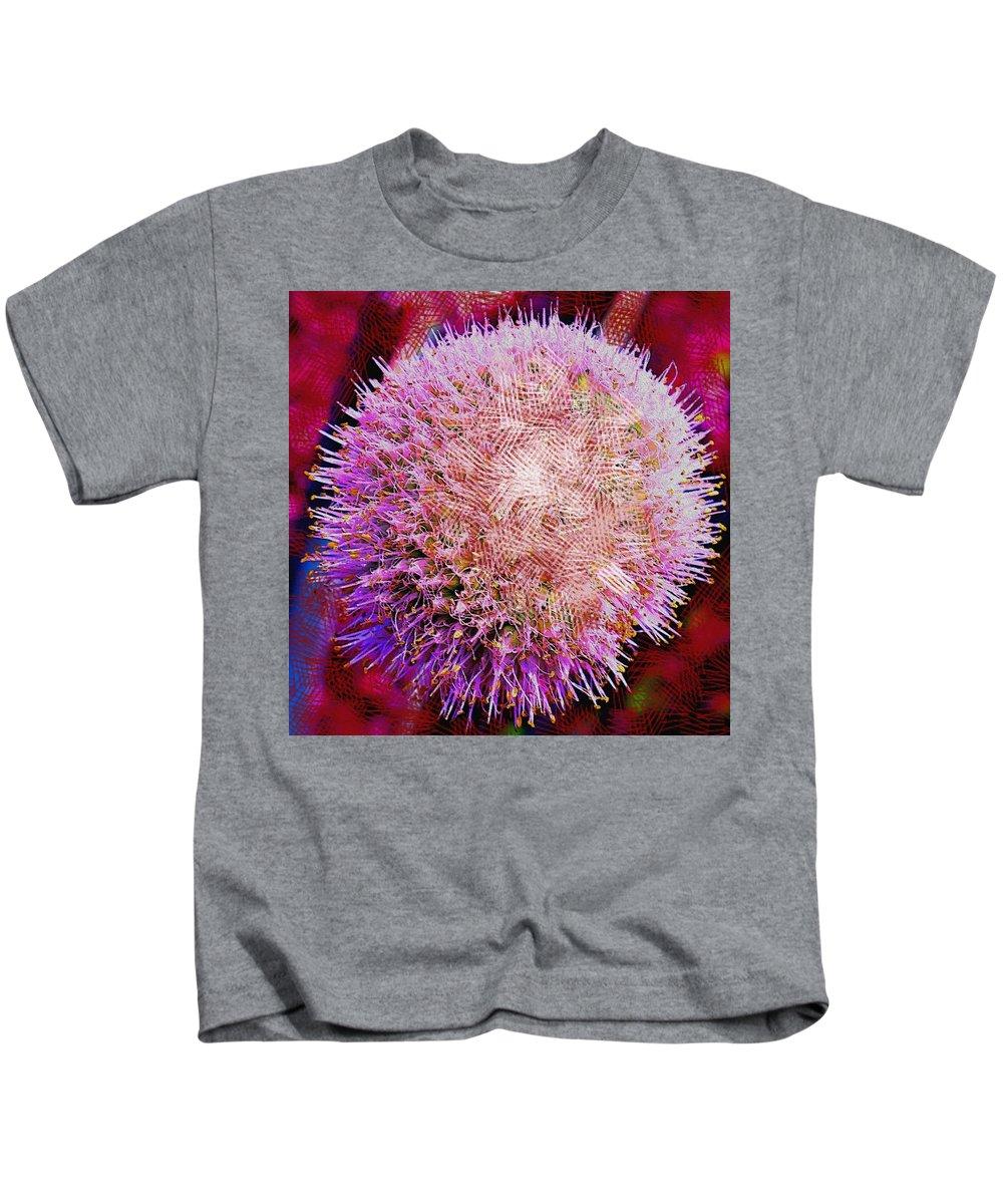 Abstract Kids T-Shirt featuring the digital art Cross Hatch Beauty by Ian MacDonald