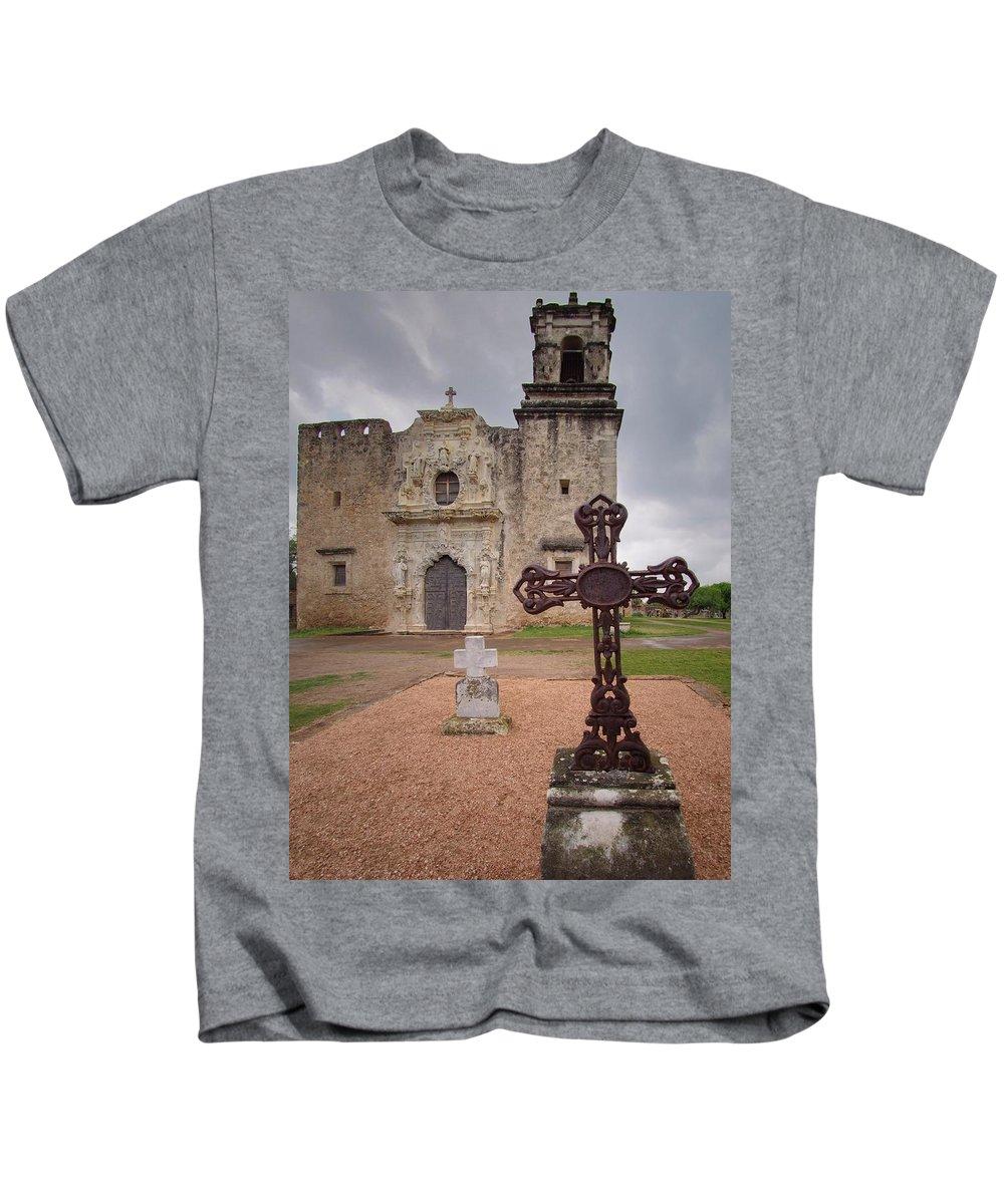 Cross Kids T-Shirt featuring the photograph Cross Markers by Buck Buchanan