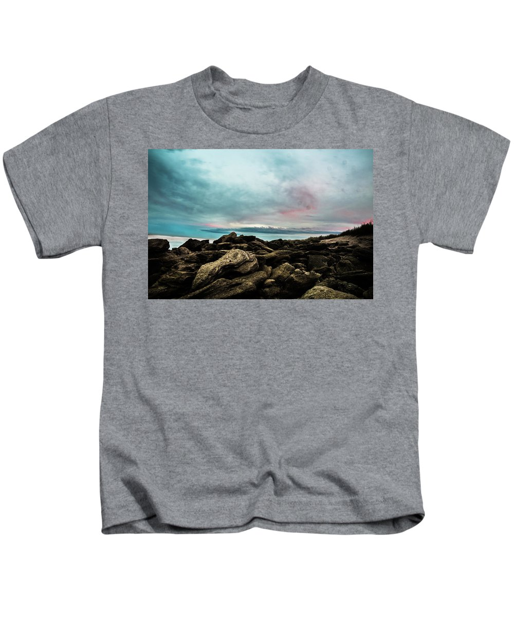 Landscape Kids T-Shirt featuring the photograph Crossing Over by Jay Deland