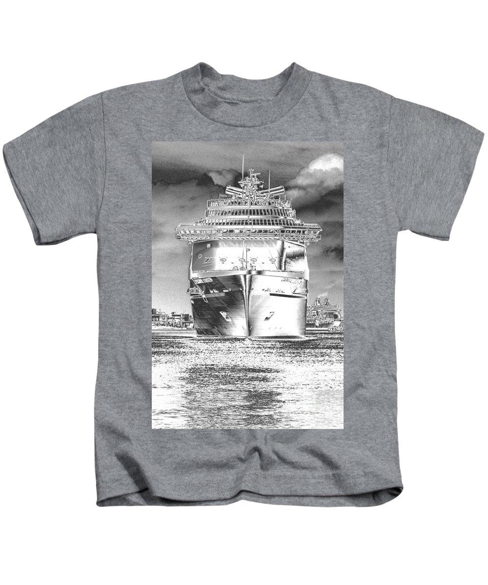 Cruising Kids T-Shirt featuring the photograph Cruise Ships In Chrome by Carol Groenen