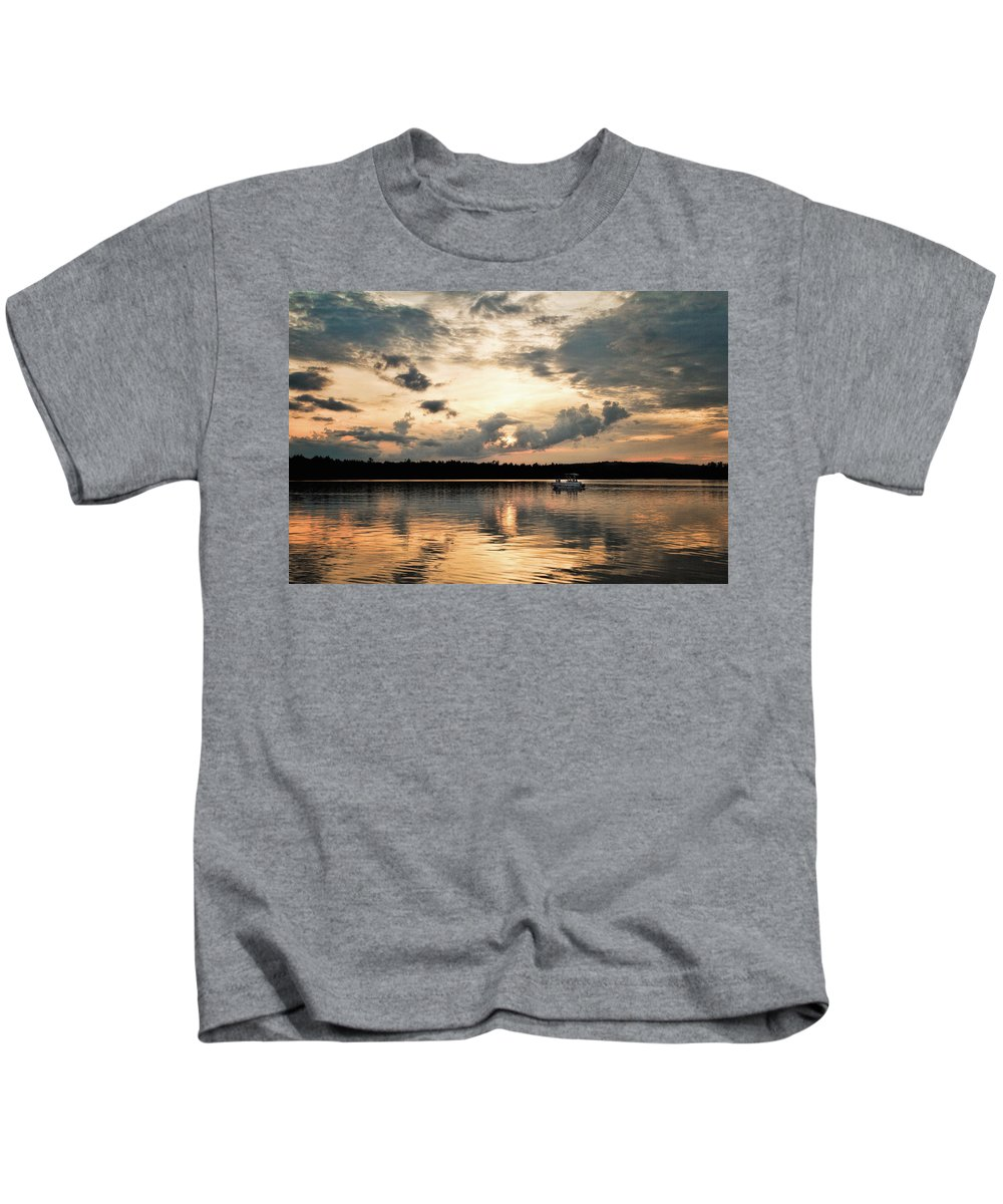 Almaguin Highlands Kids T-Shirt featuring the photograph Cruising, Eagle Lake, Almaguin Highlands, Ontario by Eric Drumm