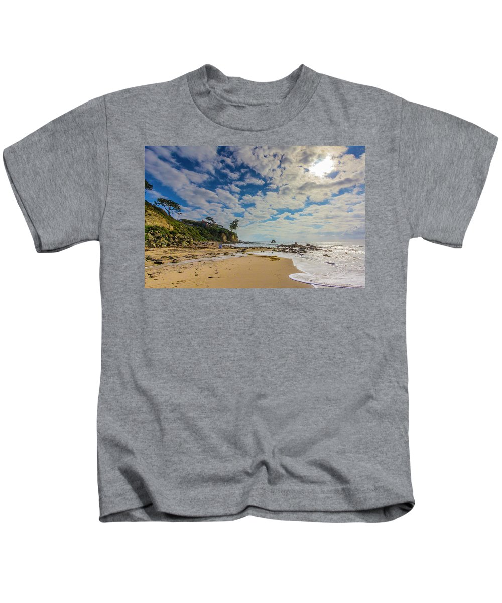 2011 Kids T-Shirt featuring the digital art Crystal Cove by Amer Khwaja