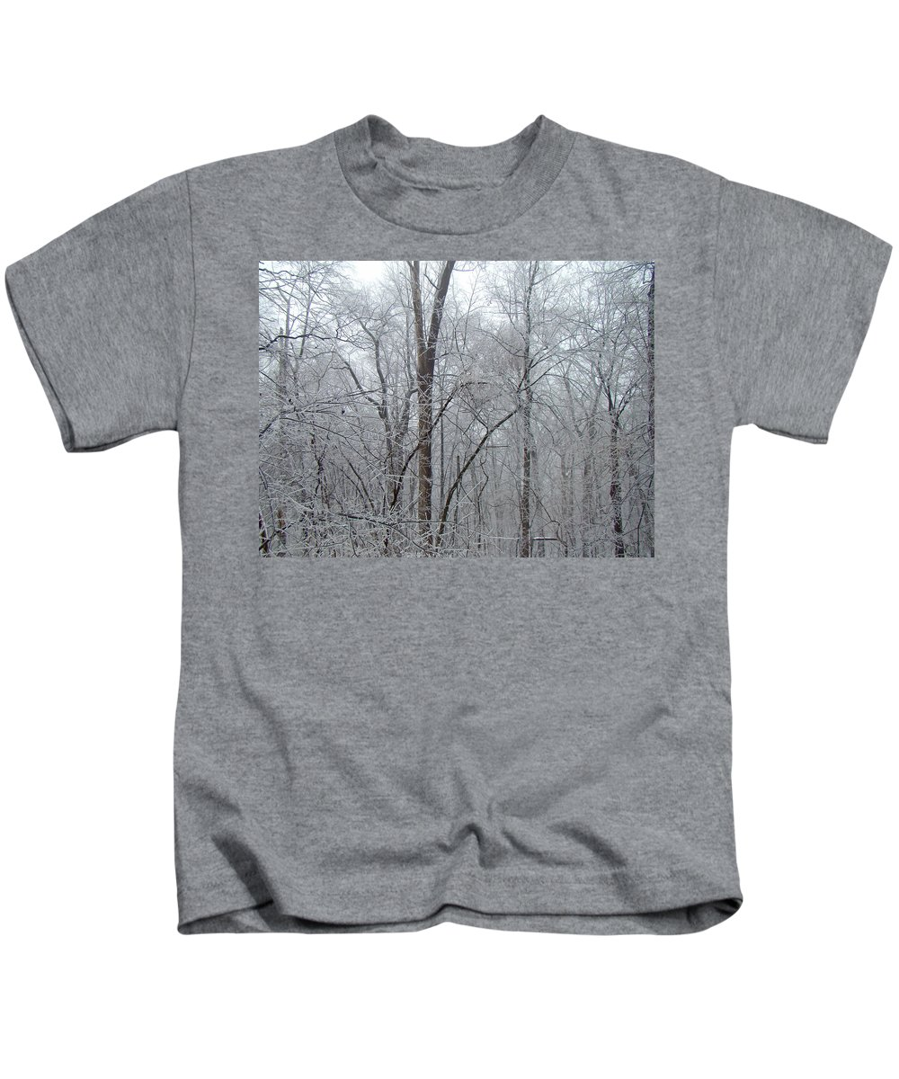 Ice Kids T-Shirt featuring the photograph Crystal Woods by Mother Nature