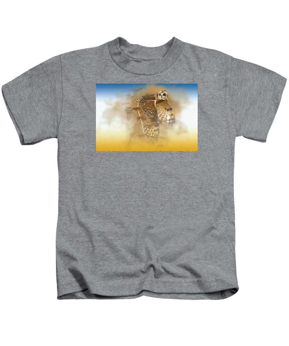 Home Art & Collectibles Kids T-Shirt featuring the digital art Curious Eyes by Don Kuing