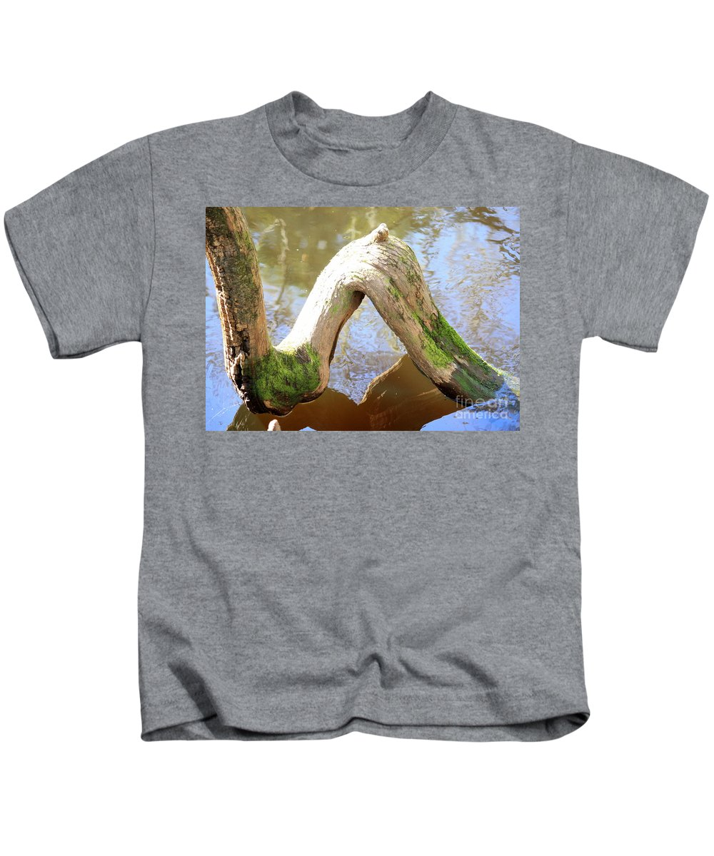 Cypress Knees Kids T-Shirt featuring the photograph Cypress Knees by Carol Groenen