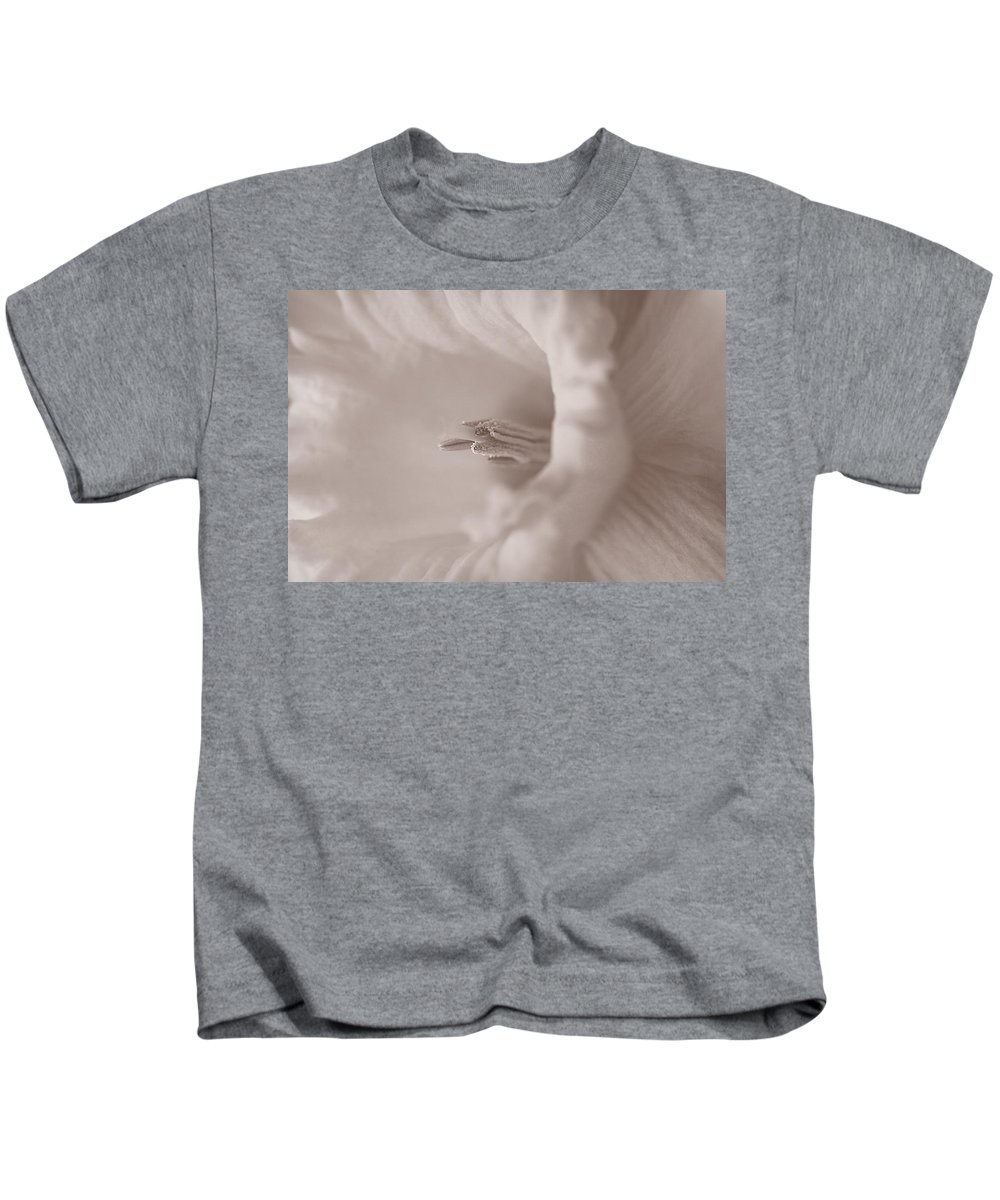 Daffodil Kids T-Shirt featuring the photograph Daffodil In White by Patricia Montgomery
